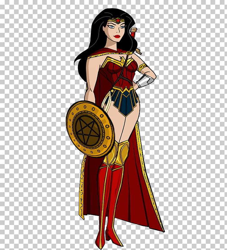 Wonder Woman Superhero Female Wonder Girl Model sheet.