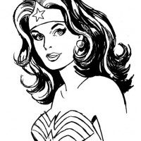 Wonder Woman Clipart Black And White.