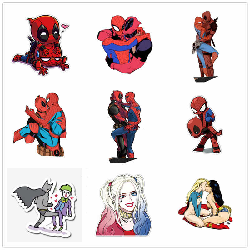 Acrylic Wonder Woman Love Superman Deadpool Spiderman Brooch.