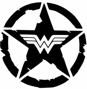 Details about WONDER WOMAN STAR COMIC Decal Vinyl Wrangler Rubicon JEEP CAR  TRUCK STICKER.
