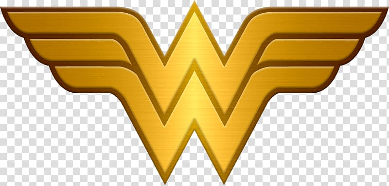Wonder Woman logo, Wonder Woman Logo Metallic transparent background.