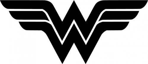Wonder Woman Logo Vinyl Sticker, comic book decals, comic.