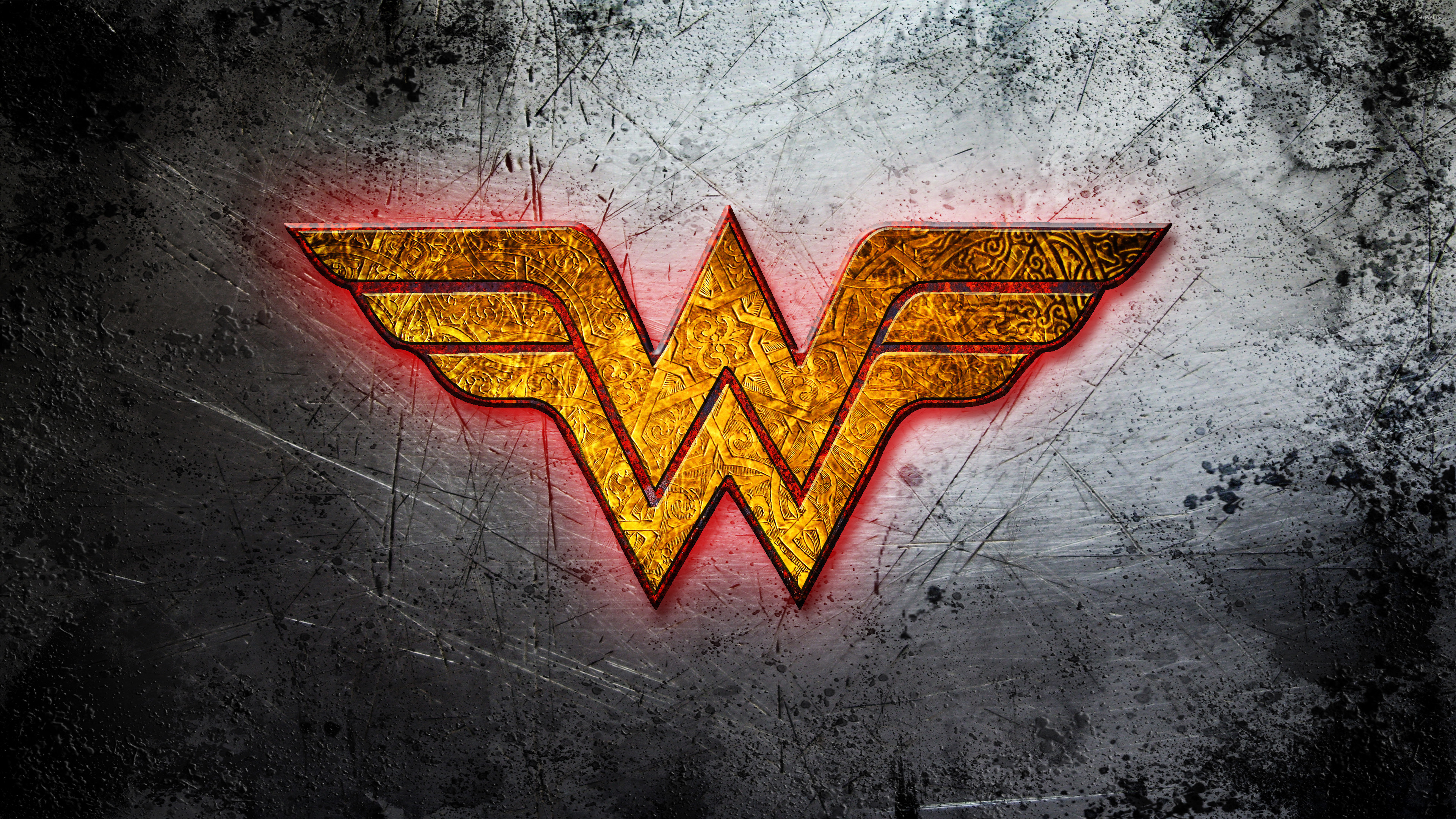 Wonder Woman Golden Logo Wallpaper.
