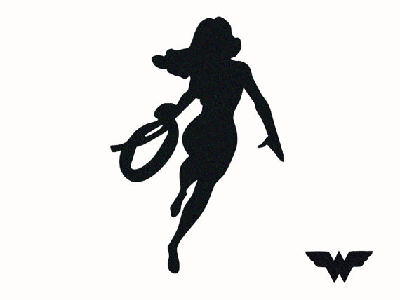 Wonder Woman Superhero Silhouette.