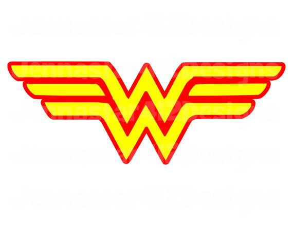 Super Hero Logo Wonder Woman DIY Printable by.