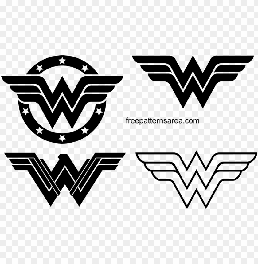 view larger image wonder woman logo symbol silhouette.