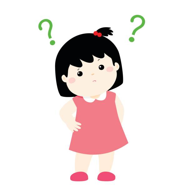 Girl Wondering Clipart.