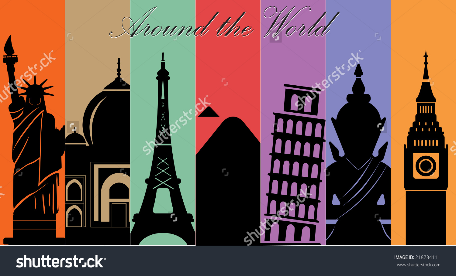 Travel Around The World Clipart Seven Wonders Of And Tourism.