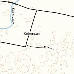Wonosari Map.