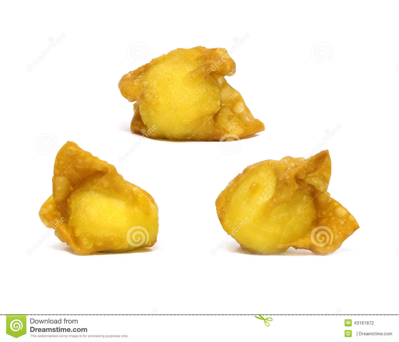 Wonton Stock Photo.