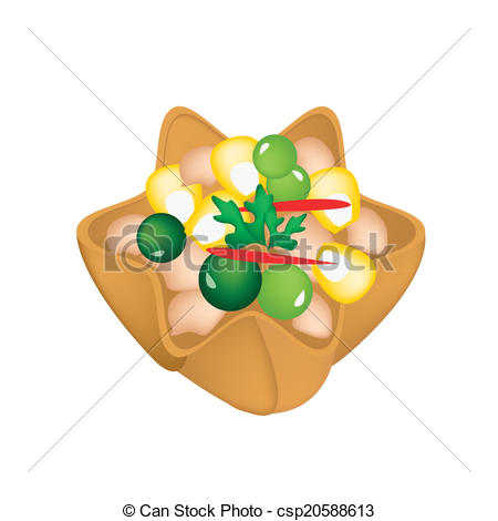 Fried wonton Vector Clip Art EPS Images. 15 Fried wonton clipart.
