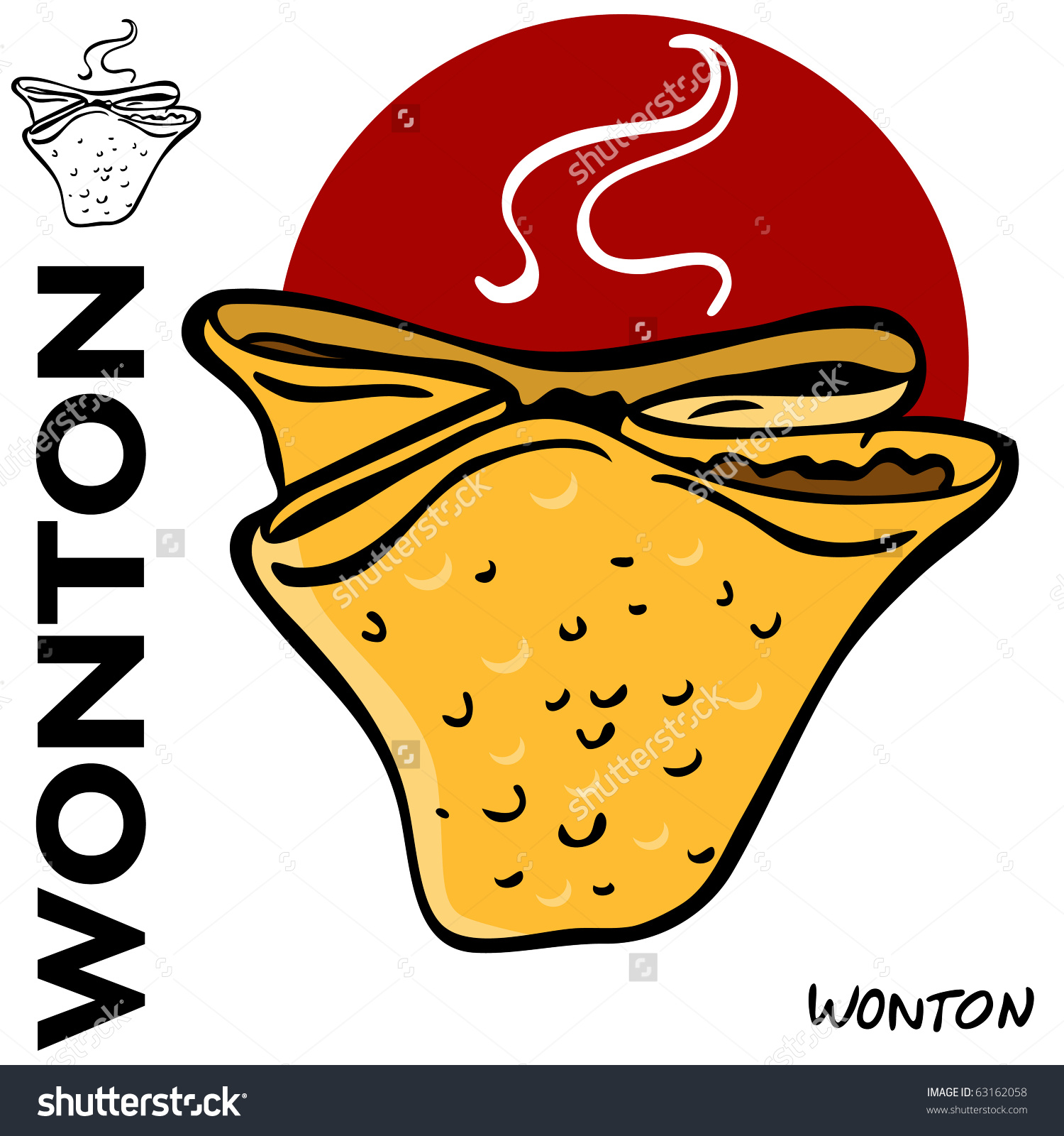 Fried Wonton Stock Vectors & Vector Clip Art.