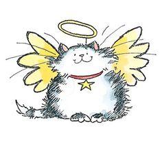 Cat angel clipart.