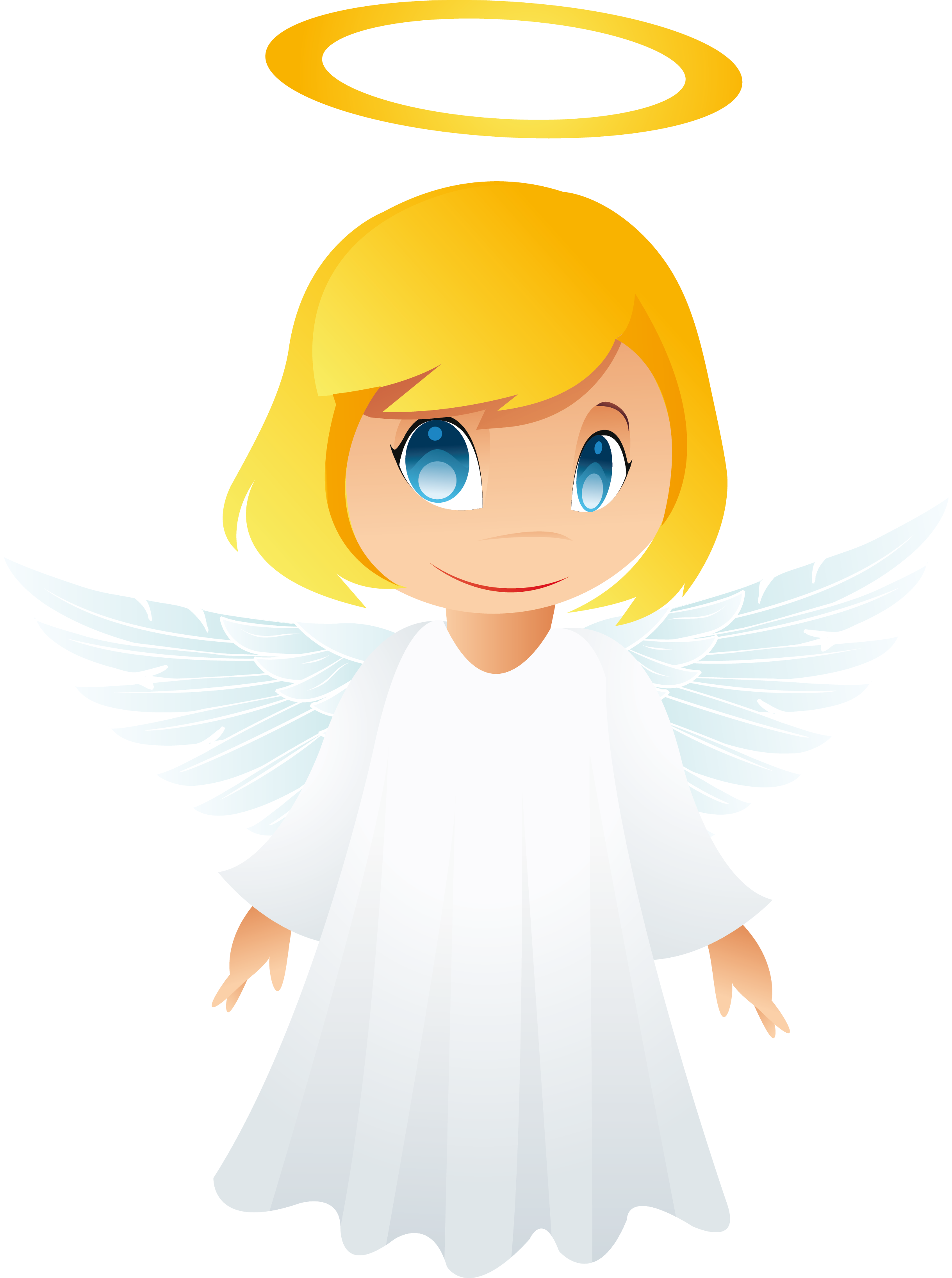 fun girl angel clipart #11