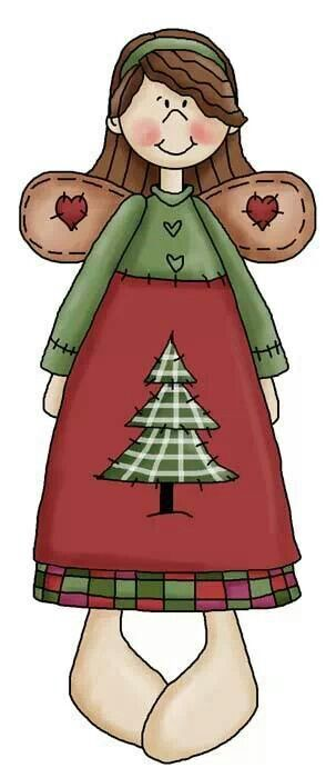 CHRISTMAS ANGEL, CLIP ART.
