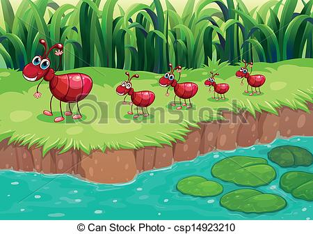 Ant colony clipart.