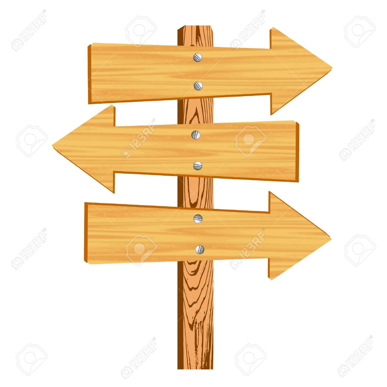 blank wooden arrow sign.