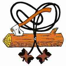 8888+ Cliparts: Wood Badge Ax And Log Clipart Images.