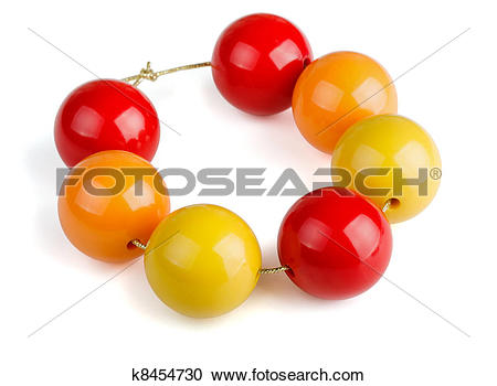 Stock Photography of Wooden beads k8454730.