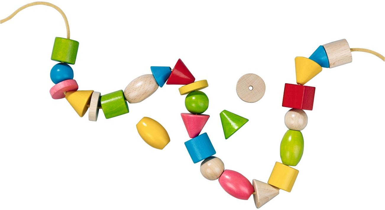 Threading beads clipart.