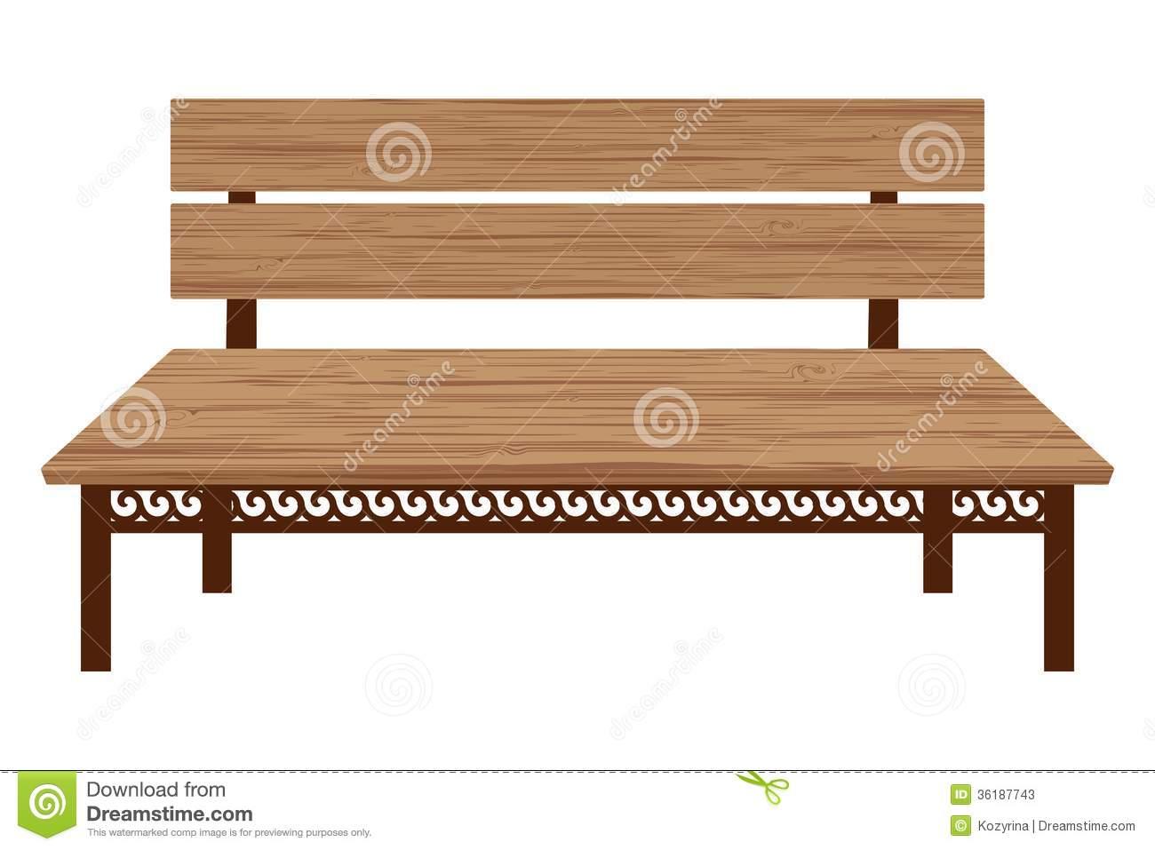 Wooden Bench Stock Photos.