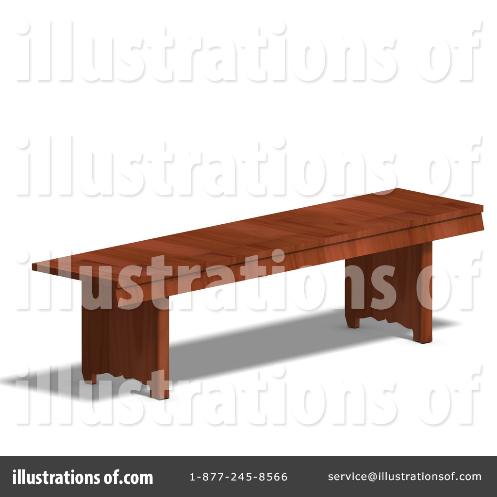 Wooden bench clipart.
