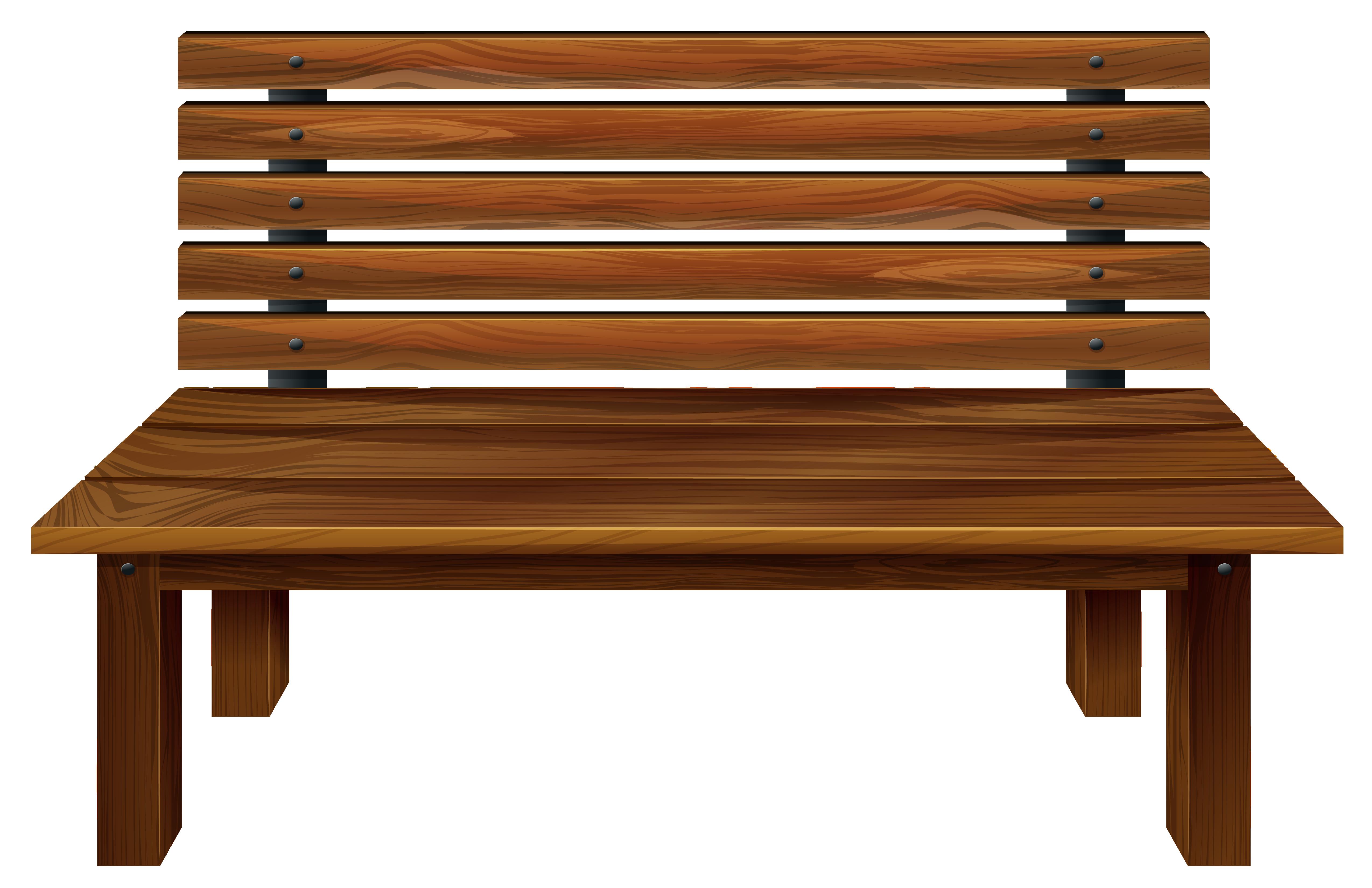 Bench clipart transparent.