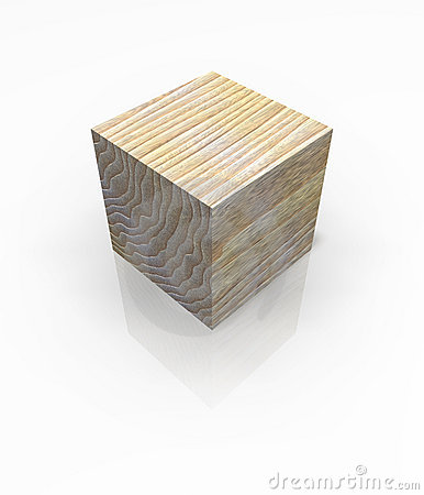 Wood Block Cube Royalty Free Stock Photo.