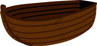 Wooden Boat Clipart.