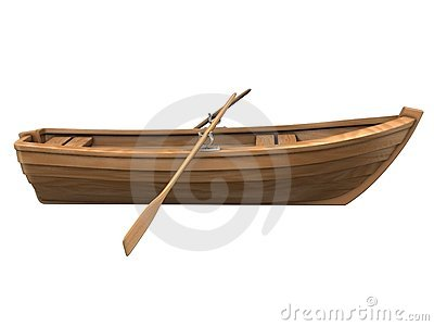 Wooden Row Boat Stock Illustrations.