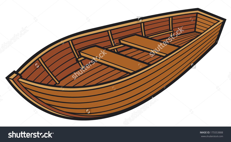 Wooden Boat Stock Vector 175553888.