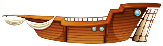 Wood Boat Clipart Stock Illustration.