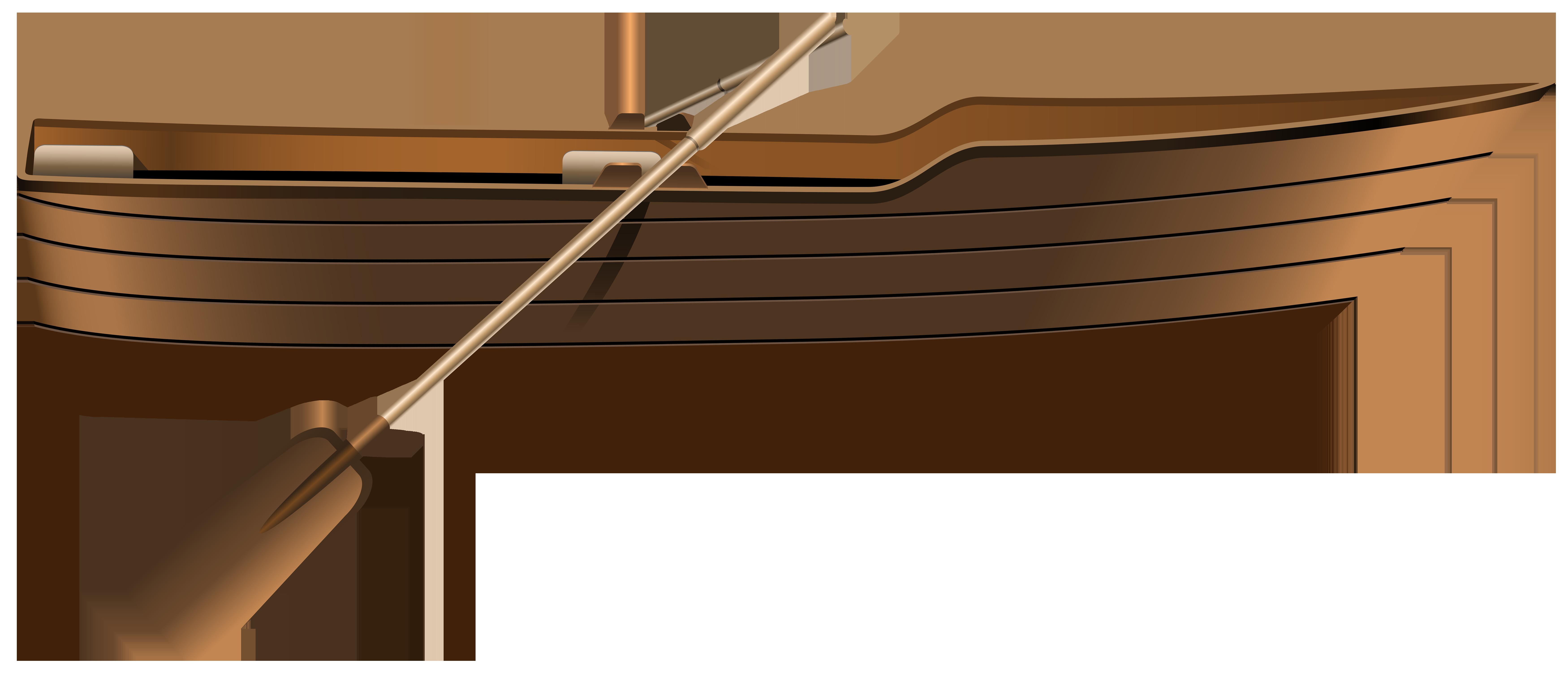 Wooden Boat PNG Clip Art.