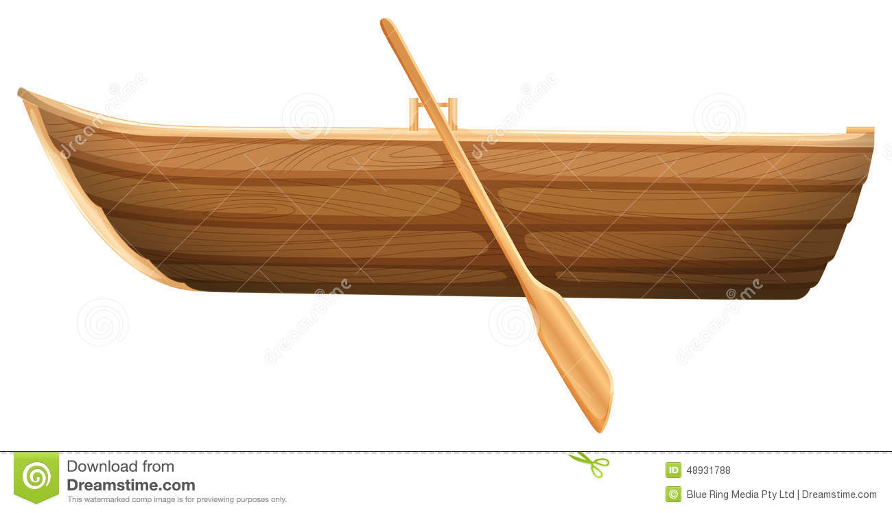 Wood Boat Isolated White Stock Photos Images Pictures