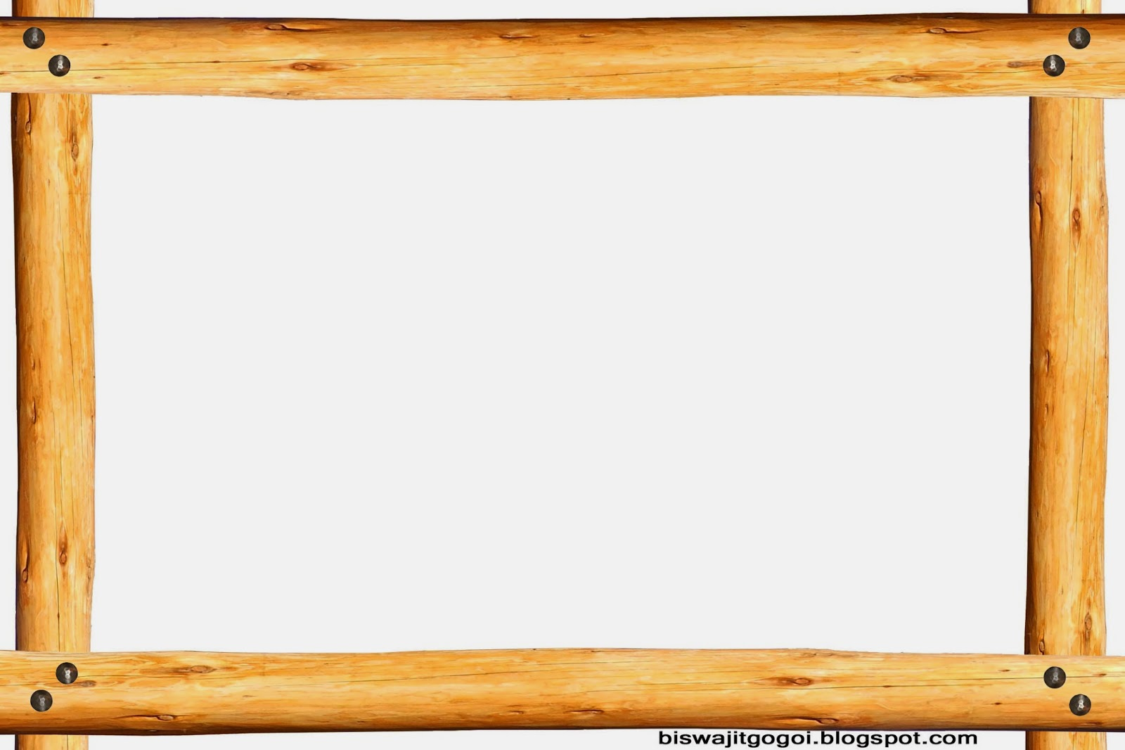 Wooden photo frame clipart.
