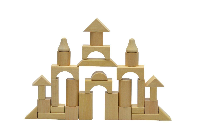 Amazon.com: Wooden Blocks 100 Pc Wood Building Block Set for.
