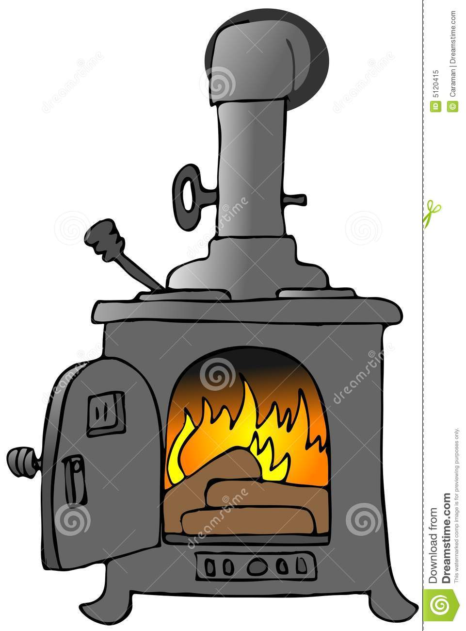 1181 Stove free clipart.