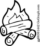 Wood Burning Clip Art.