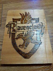 Details about Harry Potter Ravenclaw Symbol Logo Wood Burn\'t Handmade.
