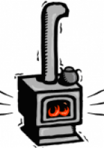 Wood Stove Clipart.