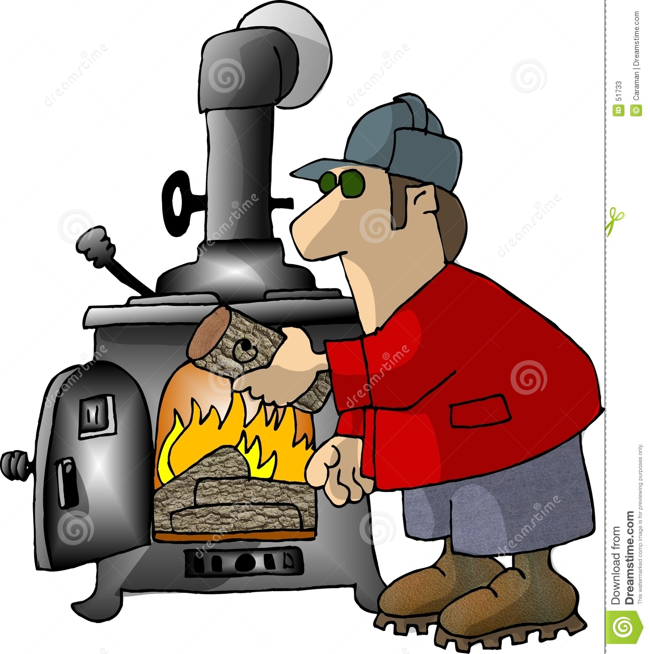 Wood Stove Furnace Clip Art.
