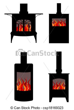 Wood stove Stock Illustrations. 798 Wood stove clip art images and.