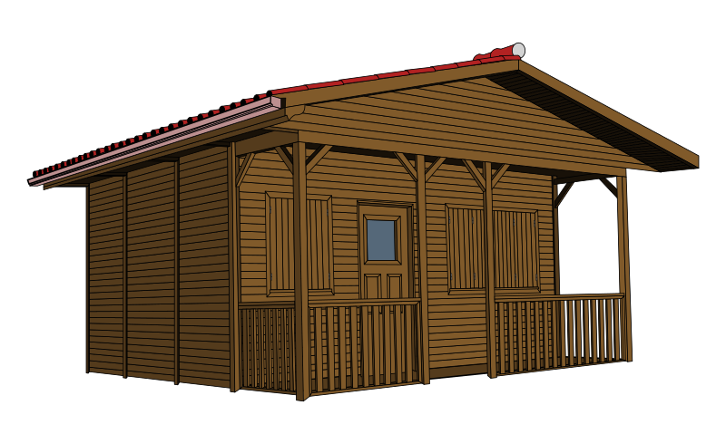 Free Clipart Log Cabin Woods