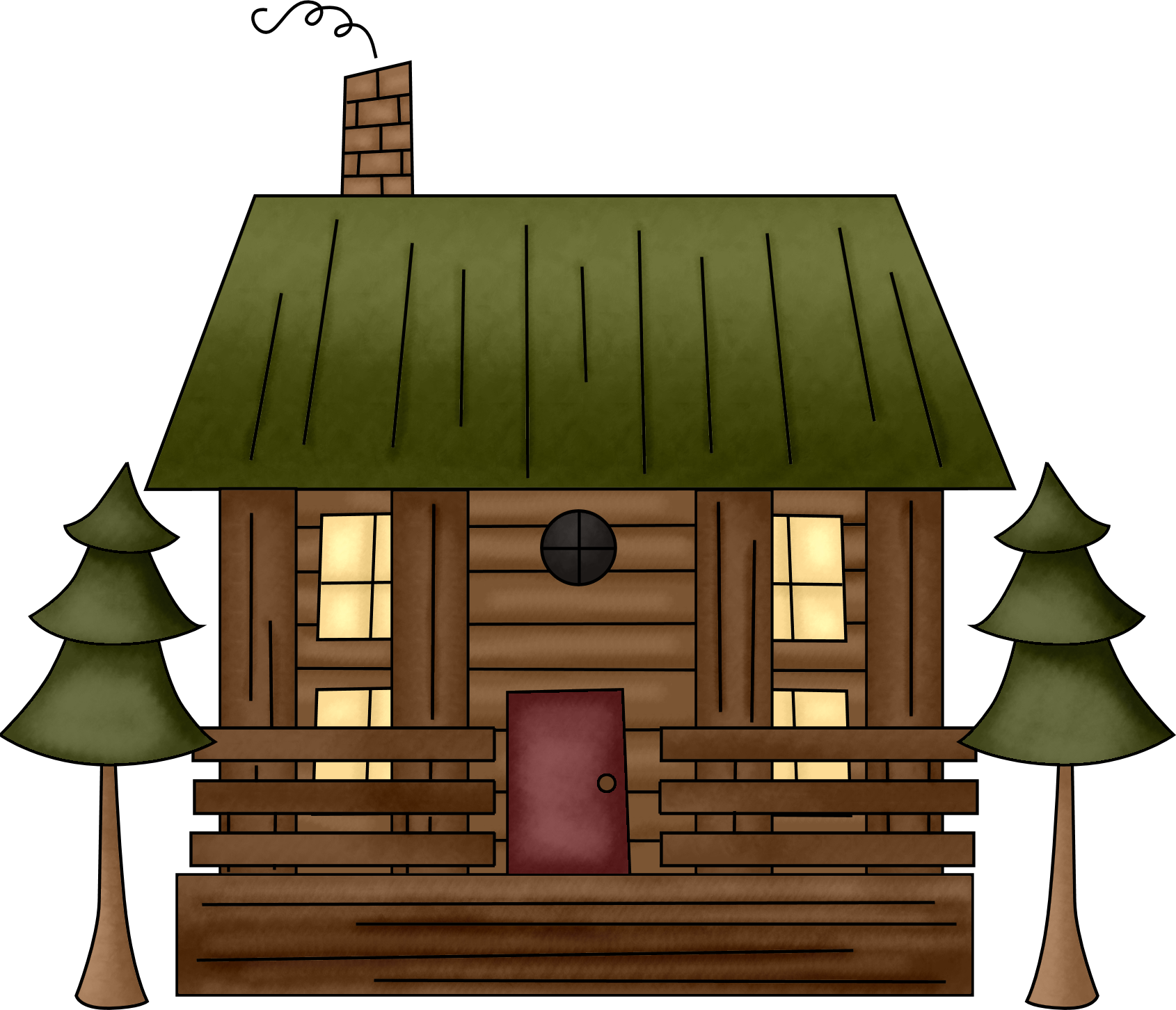 Wood cabin clipart.