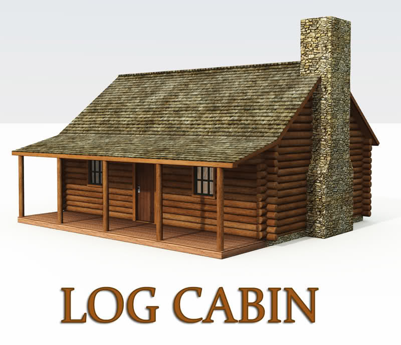Log Home Clipart