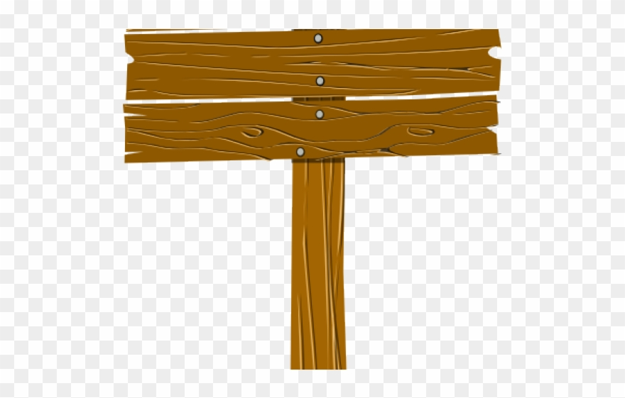 Wood Clipart Camp Sign.