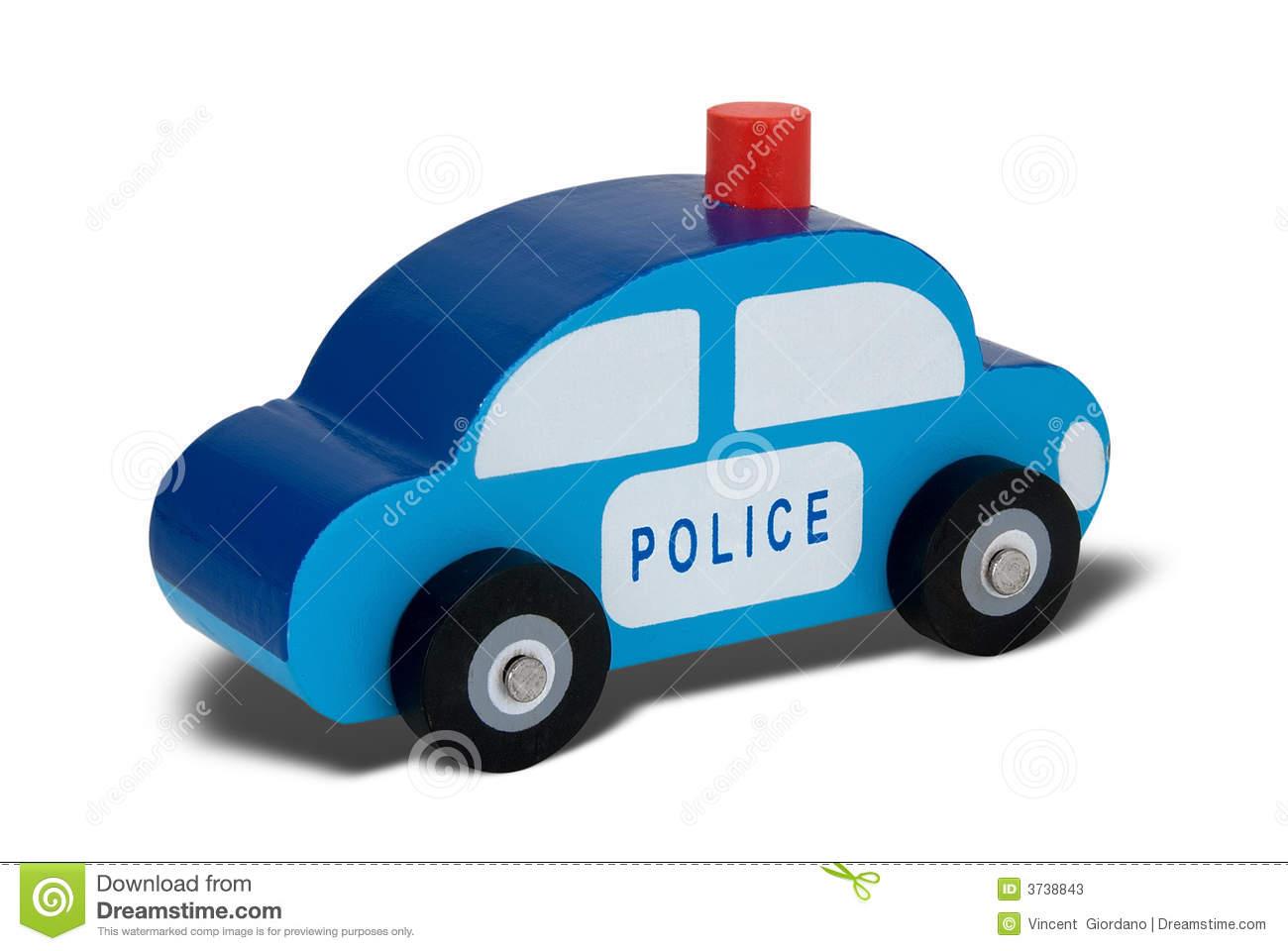 Toy Wood Police Car Stock Photos.