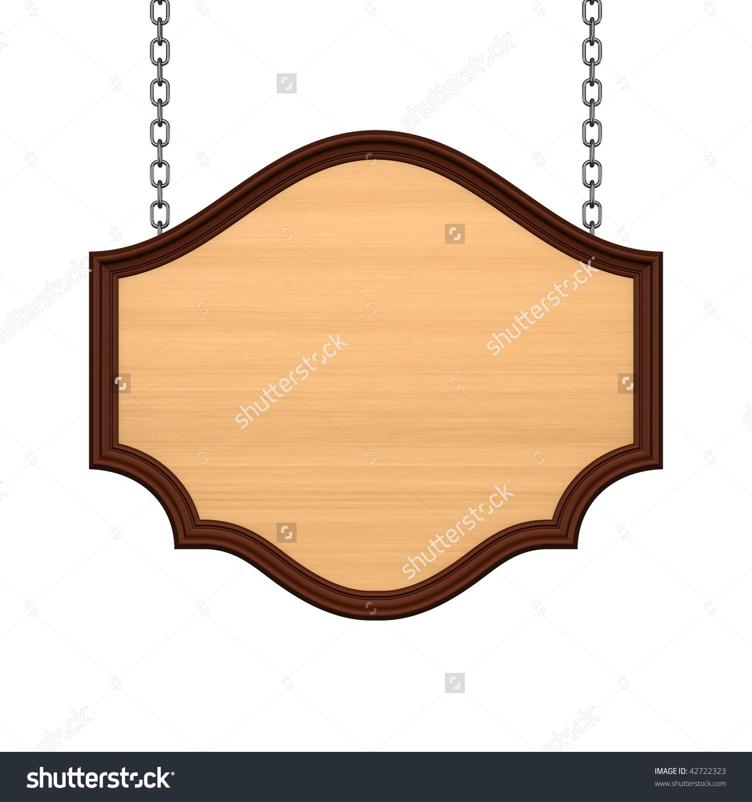 Wooden Signboard Chain Stock Illustration 42722323.