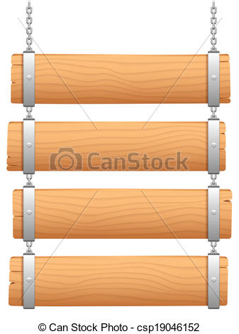 Clipart Vector of Wooden signboard..