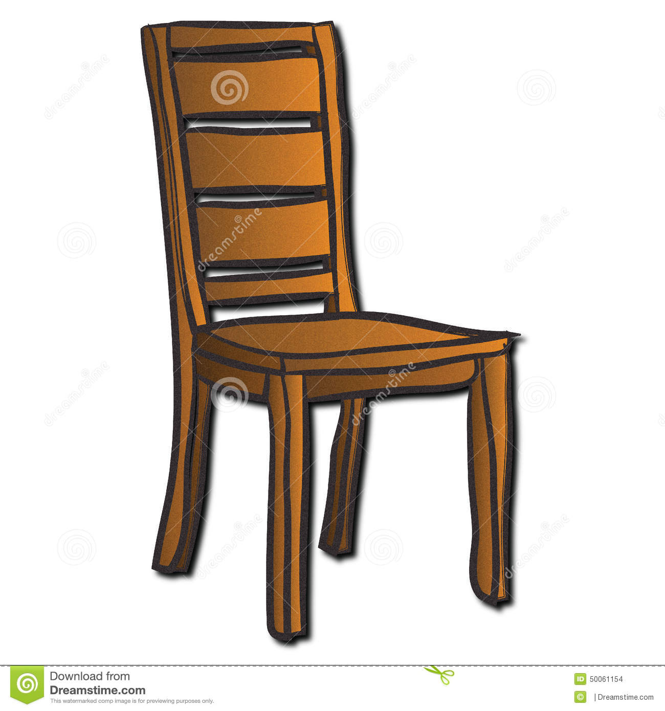 A Wooden Chair Stock Illustration.